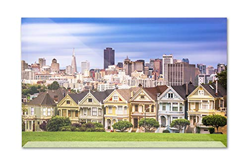 - San Francisco, California - Painted Ladies - Photography A-92287 (9x6 Acrylic Photo Block Gallery Quality)