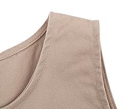 Bienzoe Big Girl\'s Twill Jumper School Uniforms Button Dress Khaki Size 7