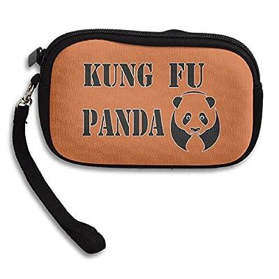 Claudia Fashion Women Girl Zipper Cute Purse Martial Arts Hero Panda Card Holder Mini Handbag