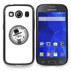 "Qstar Arte & diseño plástico duro Fundas Cover Cubre Hard Case Cover para Samsung Galaxy Ace Style LTE/ G357 (Like A Sir - Gracioso"")"