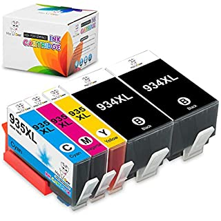 MS Deer Compatible 934XL 935XL 934 935 XL Ink cartridges Replacement for Officejet Pro 6830 6230 6815 6835 6812 6820 6220 Printer (2Black/1Cyan/1Magenta/1Yellow) 5-Pack