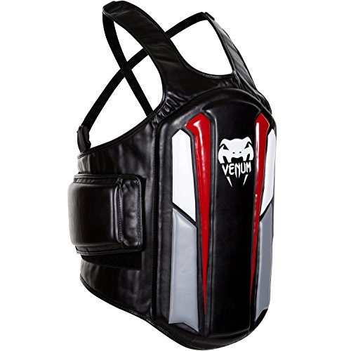 "Venum ""Elite Body Protector, Black/Ice/Red"
