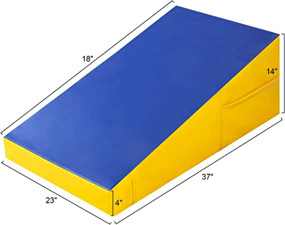 HI-MAT Cheese Mat Incline Wedge Mat 47x24x14 Gymnastics Ramp Cheese Slope Mat Skill Shape Tumbling Mat Gym Fitness