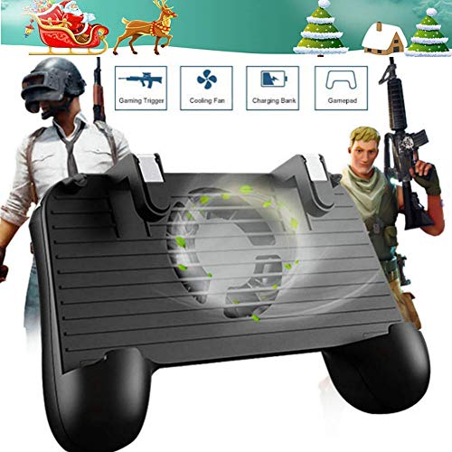 Mobile Game Controller [Upgrade Version] Mobile Gaming Trigger for PUBG/Fortnite/Rules of Survival Gaming Grip and Gaming Joysticks for 4.5-6.5inch Android iOS Phone (Mobile Game Controller