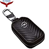 HITSAN KUNBABY Genuine Leather Bag Car Key Case Cover Wallets Fashion Women Housekeeper Holders Carteira Opel