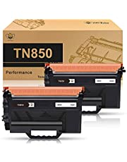 CMYBabee Compatible Toner Cartridge Replacement for Brother TN850 TN880 TN820 TN-850 TN-880 TN-820 TN 880 TN 850 TN 820 (Black, 2 Pack)