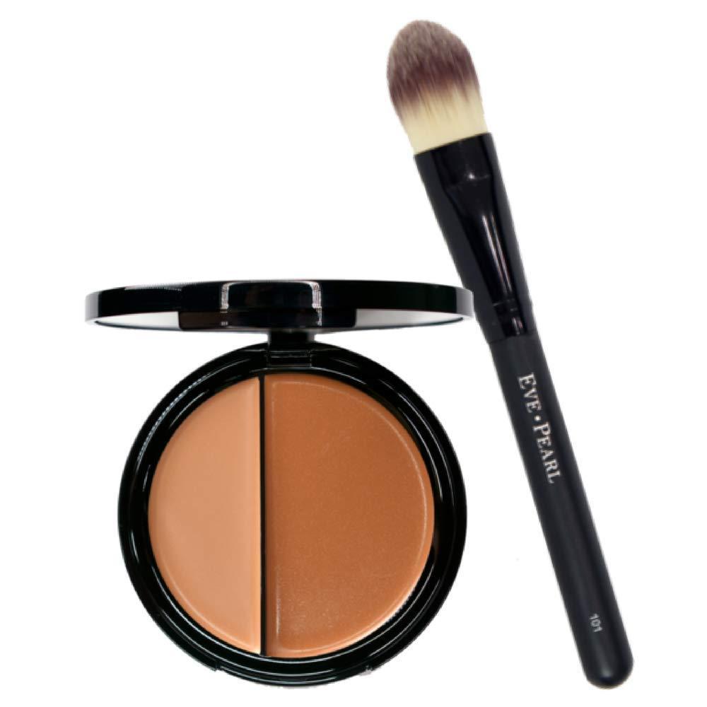 Amazon Com Eve Pearl Hd Dual Foundation Full Coverage Long Lasting Non Greasy Vitamin E Skincare And 101 Foundation Brush Set Makeup Kit Medium Beauty