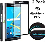 Stouch 3D Full Cover Tempered Glass Screen Protector for BlackBerry Priv - Black