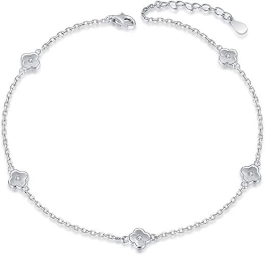 925 Silver Anklet With Star Ankle Bracelet