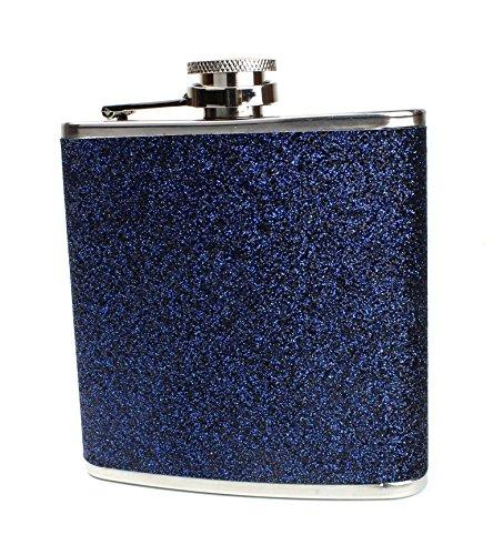 卸売 ステンレススチールwith B075JQB3QH – Storesカラフルキラキラヒップフラスコ6オンス – – スモールサイズにフィットするバッグ Size One Size glitterflask-1-darkblue ダークブルー B075JQB3QH, ザバリ:1b51c920 --- a0267596.xsph.ru