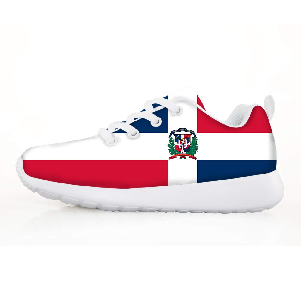 Owaheson Boys Girls Casual Lace-up Sneakers Running Shoes Dominica Flag