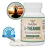 L-Theanine 200mg (Third Party Tested) Made in The USA, 60 Capsules by Double Wood Supplements
