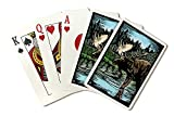 Moose - Scratchboard (Playing Card Deck - 52 Card Poker Size with Jokers)