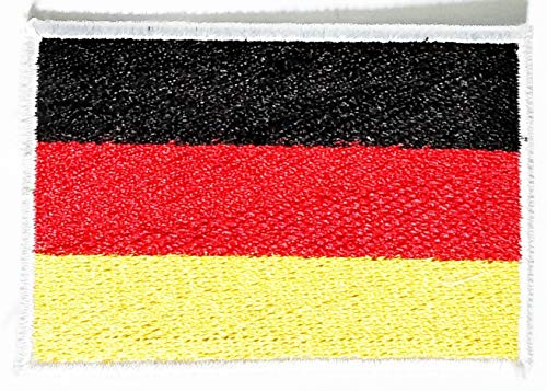 (Nipitshop Patches Emblem National Country Germany Flag Patch Germany Flag Symbol Jacket T-Shirt Patch Sew Iron on Embroidered Sign Badge)