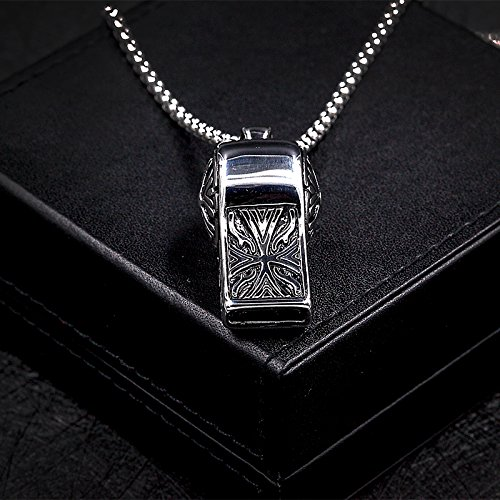 Law Enforcement Coaches (HANDMADE JEWELLERY - Whistle Necklace Charm Police Law Enforcement Sports Coach Teacher Gift Simple Music Lovers Sound Pendant Jewelry)