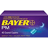 Bayer Extra Strength Caplets, PM Relief, 500 mg, 40 count