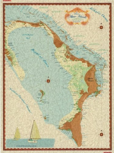 Decorative Charts Abaco Islands Map