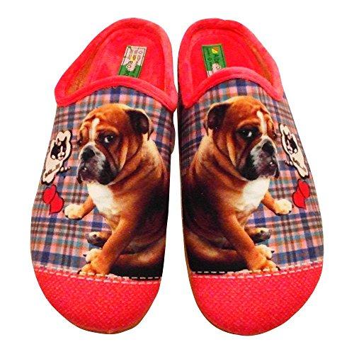 ALBEROLA Hausschuh Pantoffel Bulldogge A8682A Pink - EU 35-42 (38) zdTAvfe
