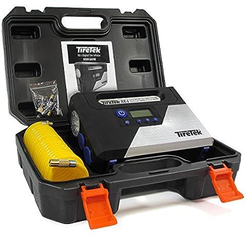 TireTek RX-i Digital Tire Inflator Pump - 12V 160W Portable Air Compressor 40LPM With Auto Cut-Off (Air Compressor Jumper)