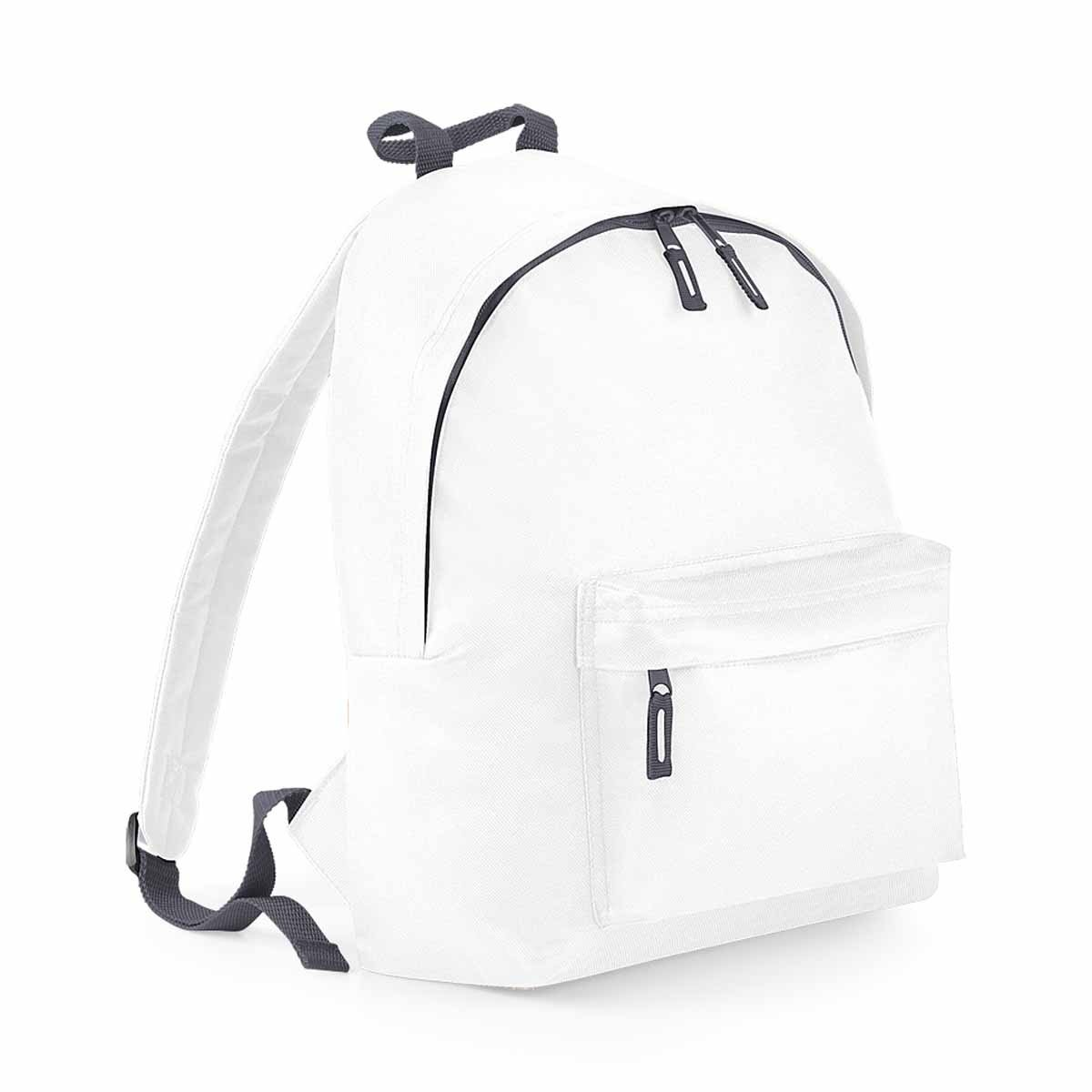 BagBase Unisex s B125JWHGP Junior Fashion Backpack White Graphite Grey  B125j 45af0bee9d0ec