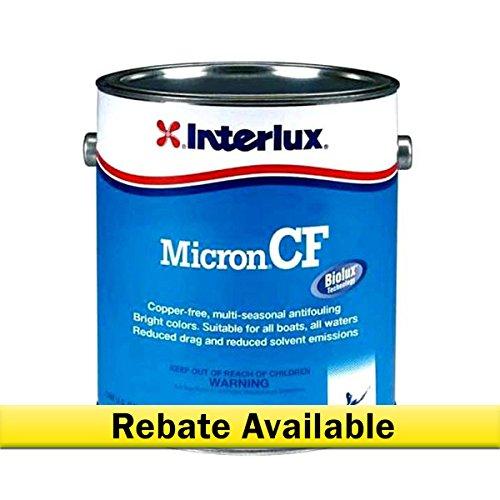 Interlux YBD100/1 Micron CF Antifouling Paint (Blue), 128. Fluid_Ounces