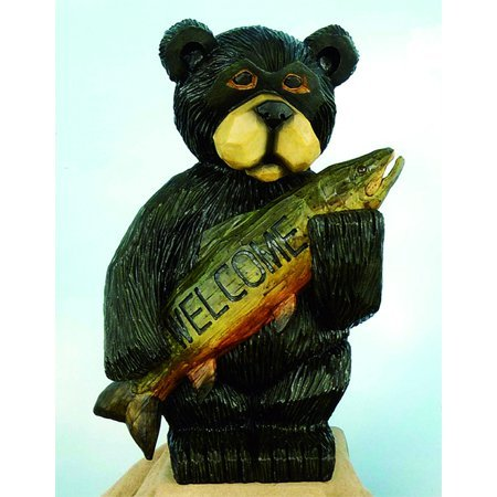 Welcome Bear Garden Statue, 16u0026quot;