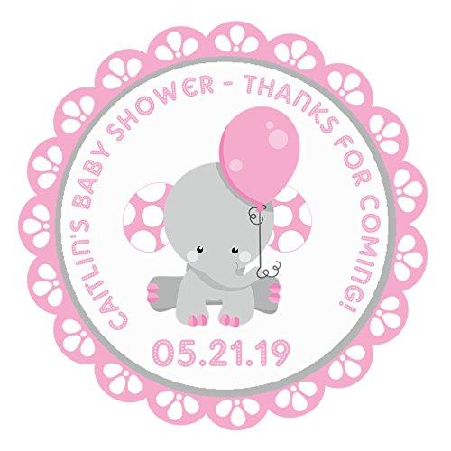 Amazon Com Pink Elephant Baby Shower Favor Stickers Handmade