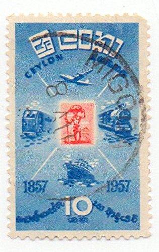Ceylon Postage Stamp Single 1957 Methods Of Transportation Issue 10 Cent Scott #335