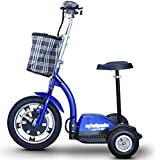 E-Wheels EW-18 400W Adult Sit/Stand Electric Mobility Scooter, Blue