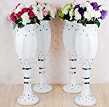 LB 4pcs Height Adjustable Plastic Roman Column Studio Photography Prop Wedding Decorative LMZ003