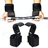 Trademinent Heavy Duty Weight Lifting Hooks Wrist Support Straps Gym Power Gripper Chin up Bar - Hooks Pair