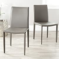 Safavieh Home Collection Karna Modern Grey Dining Chair (Set of 2)