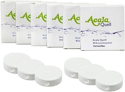 Micro Esponja – Juego de 6 para filtro de agua Acala Quell One y ...