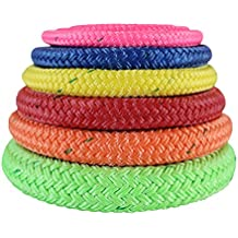 Arborist Bull Rope (3/8 inch - 3/4 inch) - ALL GEAR Tree Rigging Line - Double Braided Core with Husky Urethane Coating - for Gardening, Landscaping, Home Improvement, & Tree Service (100 ft - 600 ft)