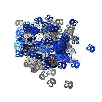 Amscan Black//Silver 50 Metallic Confetti 14g
