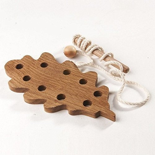 Amazon.com: Wooden Lacing Toy. Learning toy. Threading set. Fine ...