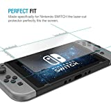Tech BS Tempered Glass Screen Protector for Nintendo Switch 2017 - Full HD Clarity (2 PACK)
