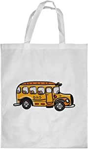 Printed Shopping bag, Large Size, School bus