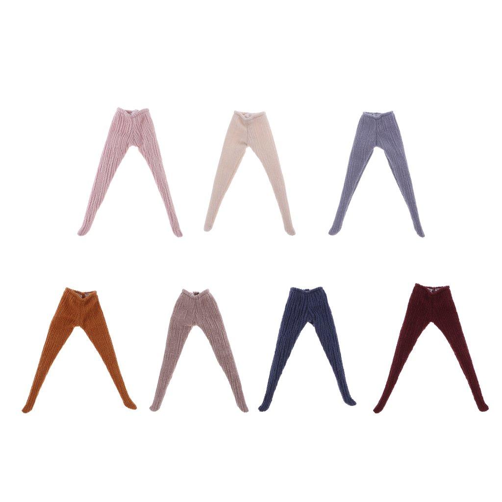 Blanc Sharplace 1//6 Echelle Pantalons de Poup/ée Leggings en Tissu Ornement Pour 12 Pouces Blythe Poup/ées--13.8cm