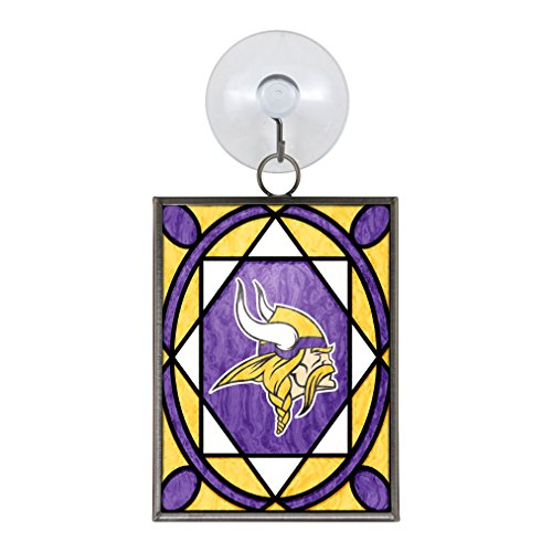 NFL Minnesota Vikings Glass Ornament