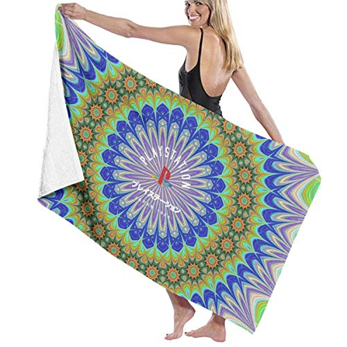 7b02c04994 BAGT Luxury Oversized Beach Towels, Playstation Japan 1994 Flower Prints Bath  Towel Wrap Womens Spa Shower and Wrap Towels Swimming Bathrobe Cover Up for  ...