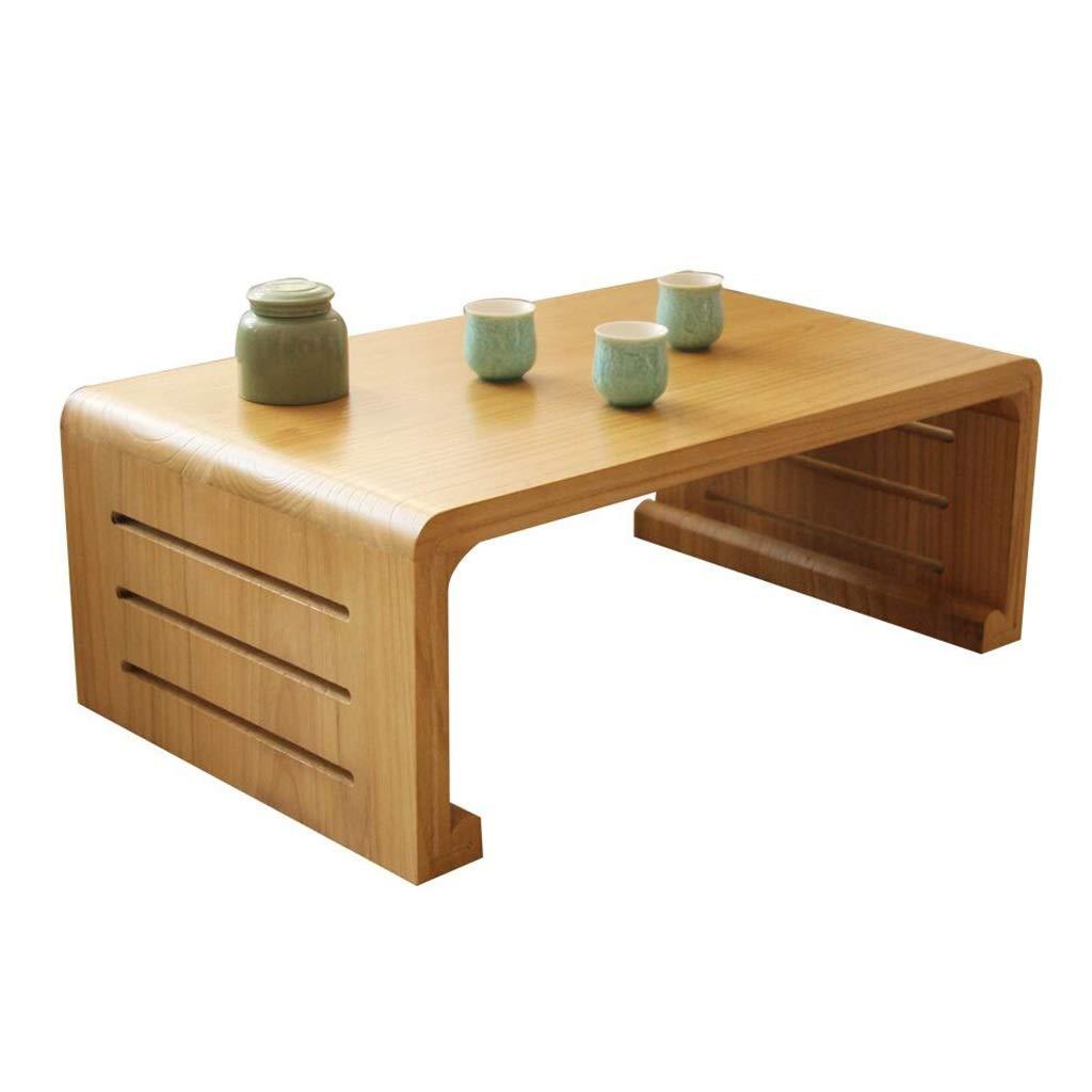 パソコンデスク ベッドテーブルソリッドウッド畳のコーヒーテーブル ホームベイウィンドウテーブル小さなテーブルローテーブル バルコニーベッドデスクスタディテーブル パソコンデスク (Color : Wood color, Size : 50*40*30CM) B07P3JS9MS Wood color 50*40*30CM