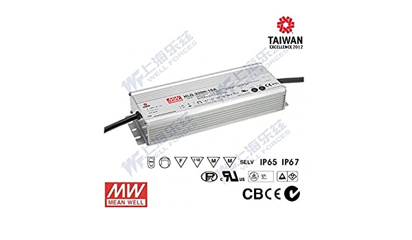MW Mean Well HLG-320H-15 15V 19A 285W Single Output Switching LED Driver with PFC