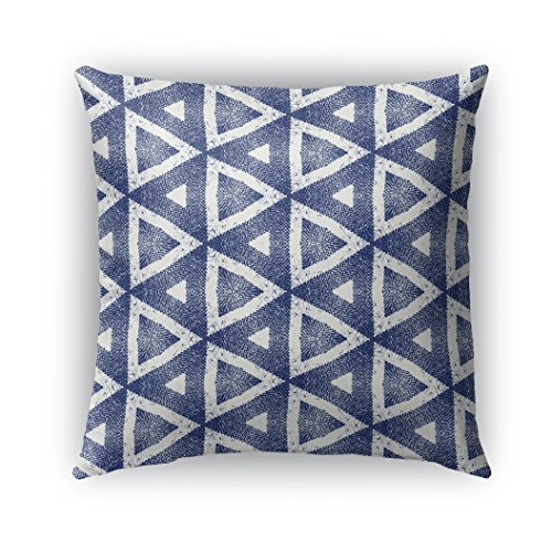 KAVKA DESIGNS Madrid Indoor/Outdoor Throw Pillow, Blue - 18