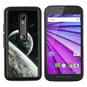 Caucho caso de Shell duro de la cubierta de accesorios de protección BY RAYDREAMMM - Motorola MOTO G3 3rd Gen - Espacio Planet Galaxy Estrellas 22