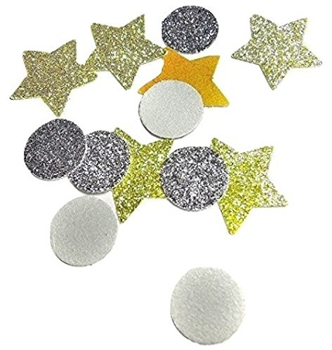 Rundes Konfetti Silber Und Stern Gold Glitter Tischdeko