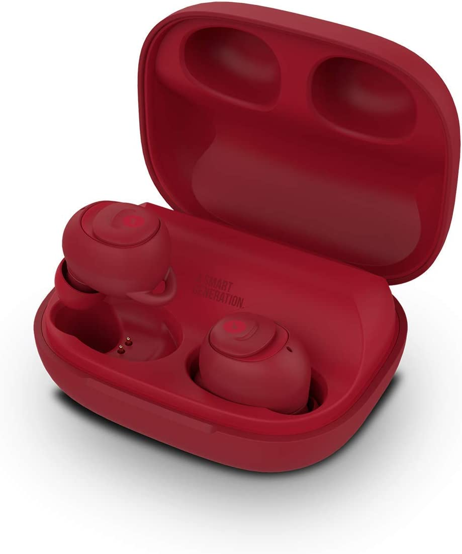 SPC Ebon - Auricular Bluetooth (manos libres, IPX5, asistente de voz)  – Color Rojo