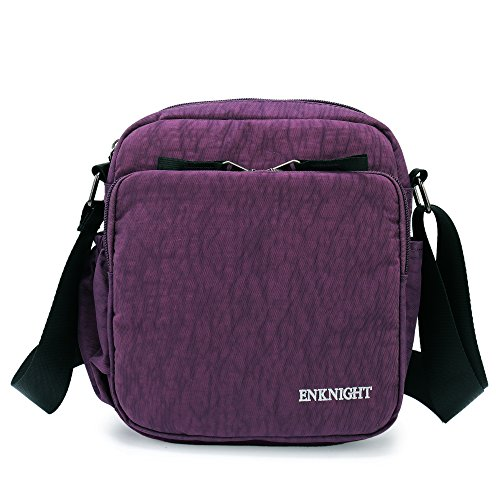 ENKNIGHT RFID Crossbody Purse Bag Small Messenger Bag Travel Shoulder Bag handbags Purple-S