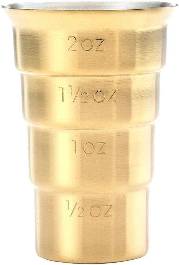 Barfly Stepped Jigger No Handle 2 oz. Gold Plated Model Number: M37109GD