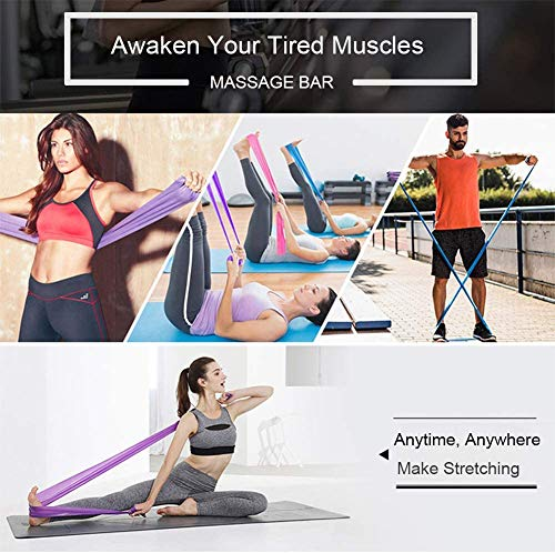 Resistance Bands Set, [Set of 3] Skin-Friendly Exercise Bands with 3 Resistance Levels for Women Men, Ideal for Strength Training, Yoga, Pilates, Fitness,Physical Therapy